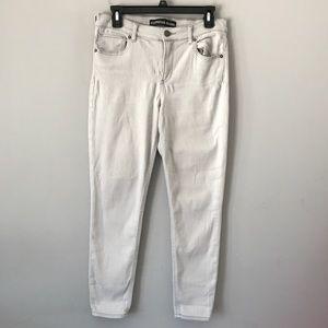 Express high rise ankle leggings jeans grey light